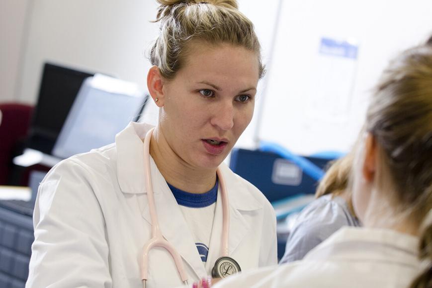 Nurse talking