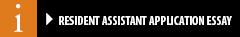Resident Assistant Application Essay