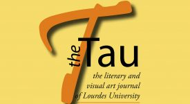 The Tau logo with a large orange letter T