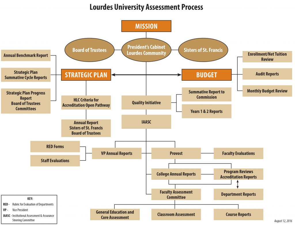 Lourdes Assessment Process Flow Chart