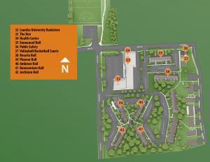 Lourdes Commons Map