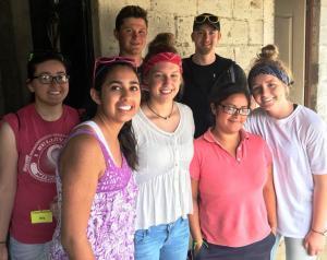 Photo at Mano Amiga with Lourdes group