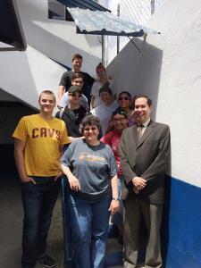 At Mano Amiga School with Alejandro