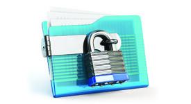 Folder with a lock