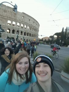 Ainsley and Jacob in Italy