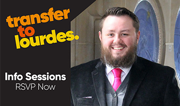 Transfer To Lourdes with image of Transfer Admissions Counselor Kyle Penzynski