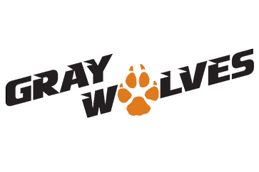 Gary Wolves with an orange paw print