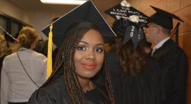 Photo of happy Lourdes graduate