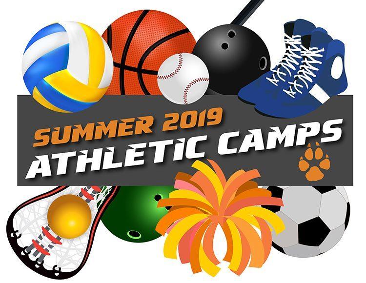 Volleyball, basektball, baseball, bowling balls, shoes, lacrosse, pom-poms, and soccer balls