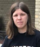 Student wearing a black shirt