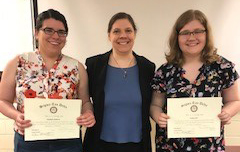 English majors Elizabeth Anderson and Noelle Roth are new members of the International English Honor Society Sigma Tau Delta. Dr. Susan Shelangoskie is the faculty advisor for the Lourdes chapter.