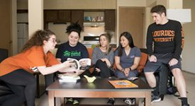 Image of students in residence life