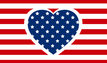Image of a Heart with the American flag
