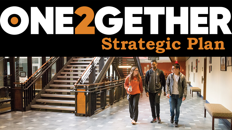 ONE2GETHER photo with Strategic Plan text
