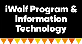 Box with words: iWolf Program & Information Technology Services