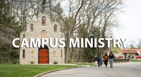 Box with words: Campus Ministry