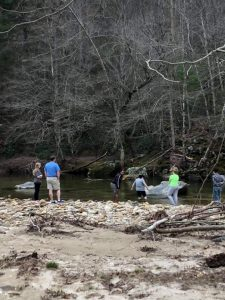 Group at the stream