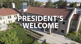 Campus image with President's Welcome text
