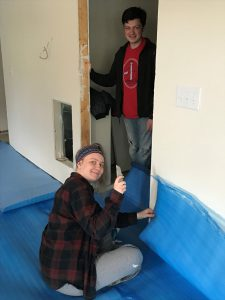 Shannon, Daniel and the Giant Blue Padding