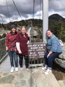 Group with Grandfather Mountain Sign