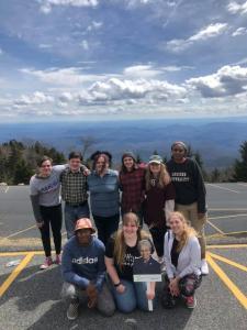 Group photo enjoying outdoors
