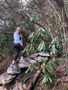 Jenn hiking