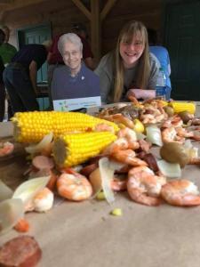 Shrimp Boil - Elyse and Sr Ann Carmen