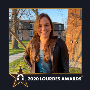 Carolina Goncalves photo in 2020 Lourdes Awards frame
