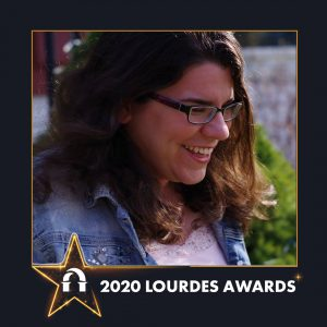 Photo of Elizabeth Anderson in 2020 Lourdes Awards frame