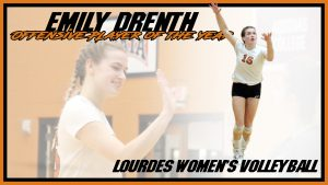 Emily Drenth Offensive Player Of The Year Volleyball