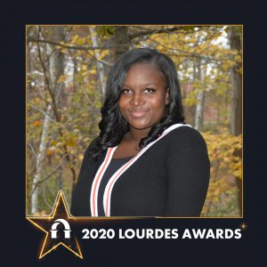 Photo of Eunique Little inside 2020 Lourdes Awards frame