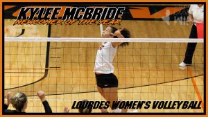 Kylee McBride Newcomer Of The Year Volleyball