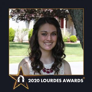 Photo of Megan Pryor in 2020 Lourdes Awards frame