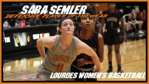 Womens Basketball Sara Semler Defensive Player Of The Year