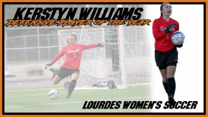Womens Soccer Kerstyn Williams Defensive Player Of The Year