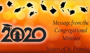 2020 Screen Image With Message From Congregational Minister In Text