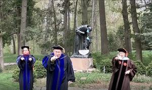 Lourdes Deans congratulating Graduating Class of 2020