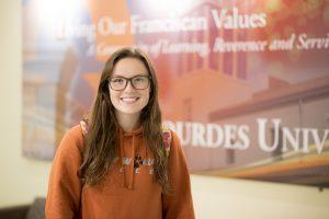 Photo of Lauren Poslaiko on Lourdes University campus