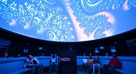 Image of a show inside the Appold Planetarium