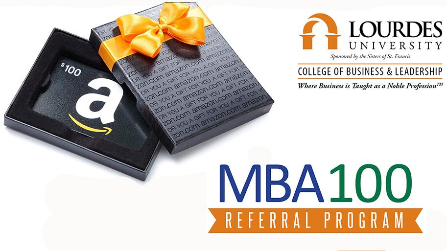 MBA100 Referral Program Logo