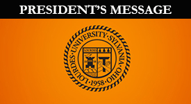 Seal With Presidential Message text