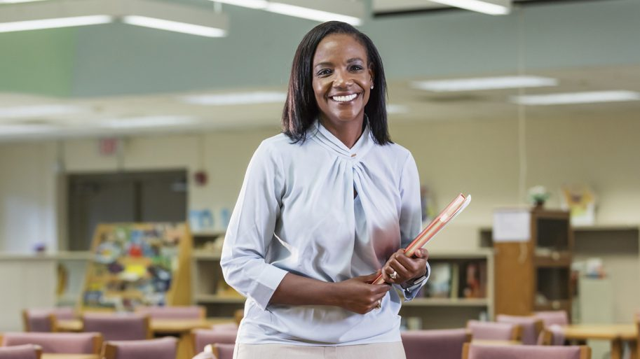 Administrative educator inside classroom