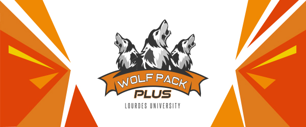 Wolf Pack Plus logo in header with three wolves howling