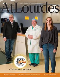 Image of Cover of Spring 2021 AtLourdes magazine