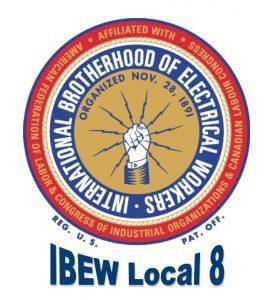 IBEW Bug And Local 8 Logo