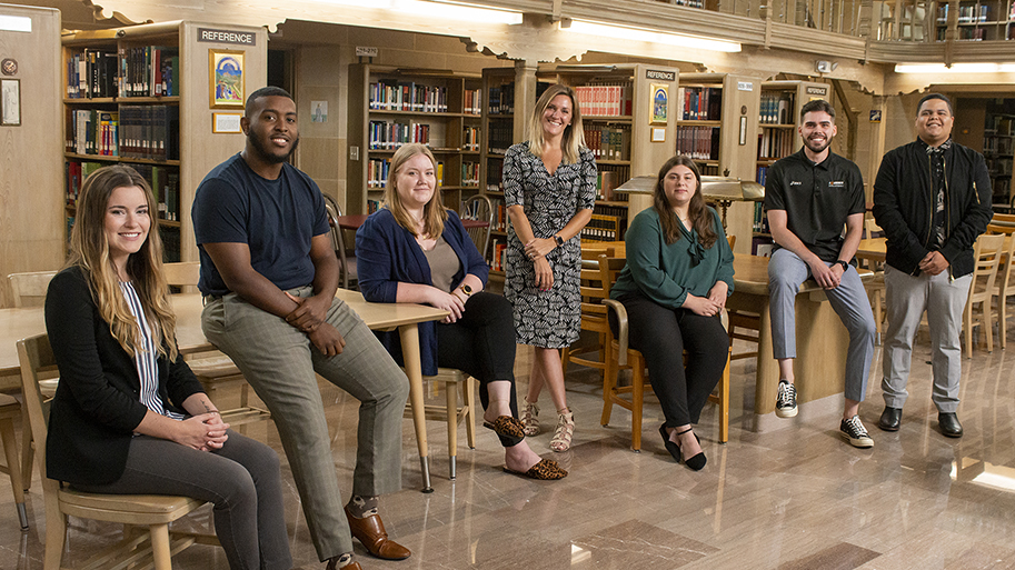 Photo of Admissions Team in library