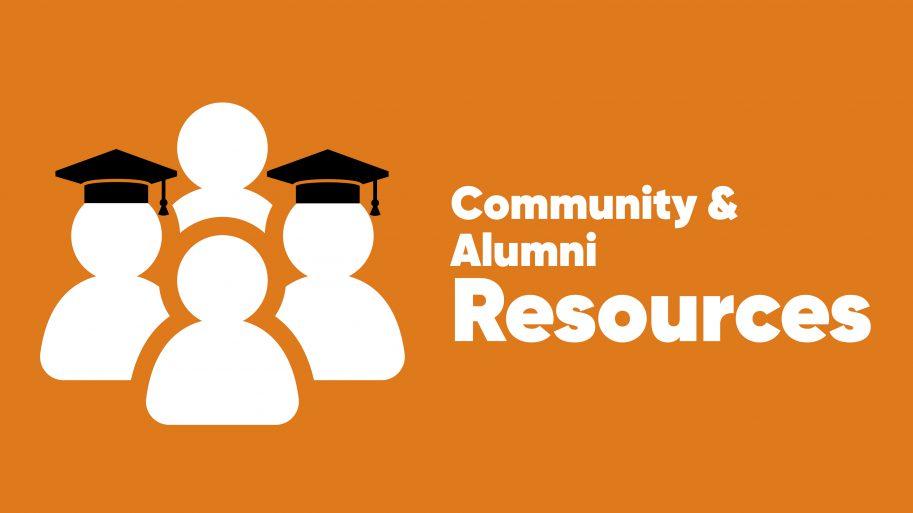 Community & Alumni Resources Top Header